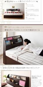跳ね上げベッド 〔Blume〕 〔羊毛入りゼルトスプリングマットレス付き〕 横開き セミダブル レギュラー