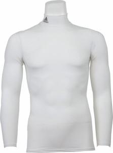 2個までメール便対応 アディダス Mi TEAM 長袖インナーシャツ メンズ ハイネックインナーロングスリーブ S21259-WHT