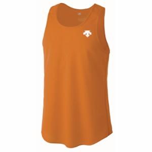 【メール便対応】 デサント 陸上 ランニングシャツ メンズ DRN-4703-ORG