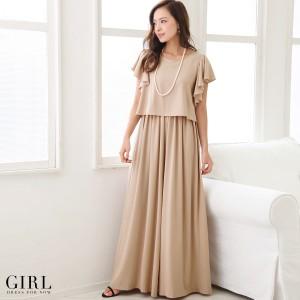 パーティードレス パンツドレス モデル美香着用 結婚式 大きいサイズ オールインワン 二次会 披露宴 パーティー レディース フォーマル