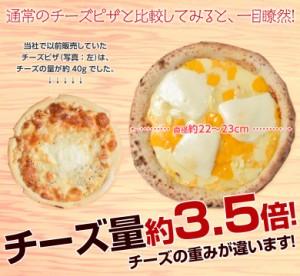 ピザ チーズ3.5倍 チーズ屋さんが作った 贅沢すぎる  メガ盛り チーズピザ 6種チーズ 5枚セット 冷凍