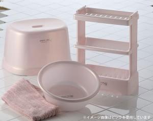 風呂椅子 高さ31cm シンプルイズム 腰かけ パールピンク [01]