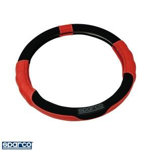 ステアリングカバー ハンドルカバー Sサイズ スエード レッド/スパルコ/sparco CORSA:SPC1108RSJS
