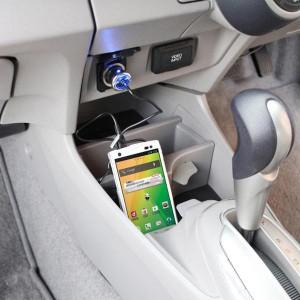 メール便可|スマートフォン用車載用充電器 microUSB 最大1.2A コード長1m/槌屋ヤック/YAC:TP-175