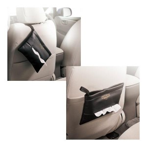 ティッシュケース クラッチバッグ FOR GIRLS ブラック 大人可愛いティシューケース/カーメイト/CARMATE:DZ323