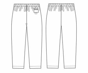 ナガイレーベン 手術衣(女子スラックス) バーガンディ L 8-8806-03
