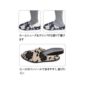 (室内用)徳武産業 「あゆみシューズ」 結 ゆい(8204)紺 両足