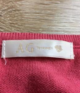 エージーバイアクアガール ピンク 長袖ニット AG by aquagirl レディース【中古】