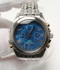 自動巻き 腕時計 ブルー Disney レディース【中古】