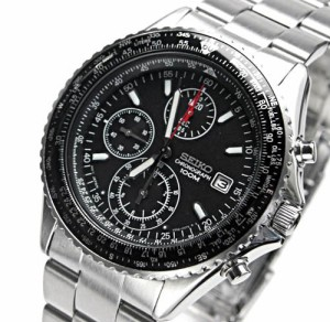 送料無料 SEIKOメンズ腕時計パイロットクロノグラフ バックル名入れ彫刻セイコー(SEIKO SND253PC) ギフト・誕生日プレゼントに最適☆