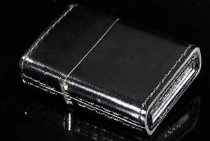 ZIPPO/革巻きジッポーコードバン『ブラック』