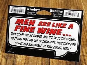 ステッカー 車 アメリカン バイク 吹き出し 男はワインのようなもの。ブドウにはじまり、女性次第でディナーを..._SC-DDTT7046-MON