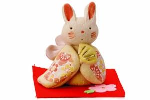 置物 インテリア 手造り兎 ウサギ/ 濱田ひろこ作雅うさぎ・黄(中) /雑貨 リビング 玄関 受付け 母の日 結婚祝い プレゼント 贈り物