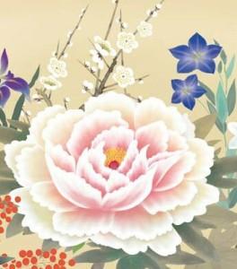 [額絵] 花鳥画 【四季花】 根本孝逸[小] [G4-BK011-s]【代引き不可】