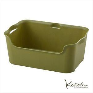 収納ボックスKatasu(カタス) ハコ M グリーン カラーボックス [01]