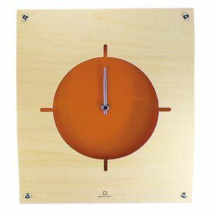 時計 壁掛け WALL CLOCK オレンジ YK05-100  [01]