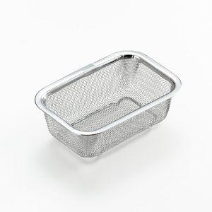 ステンレス角型水切りザル 小 [01]