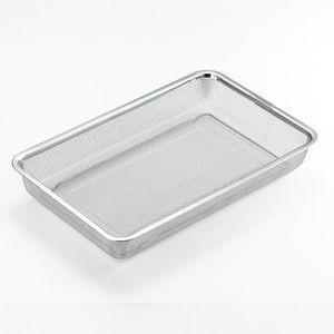 ステンレス角型水切りザル 大 [01]