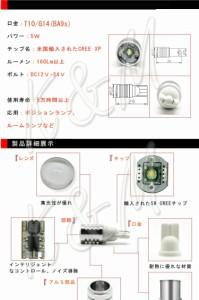 K&M SUZUKI ワゴンR(後) H17.9〜H20.8 MH11・21系  バックランプ 【T16】2個入り ☆CREE LED 5W 送料無料 1ヶ月保証 メール便