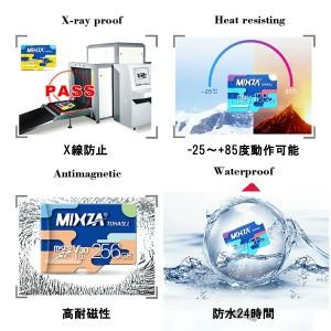 K&M MicroSD 64GB Mixza Class10 UHS-I 超高速最大80MB microSDXC 変換アダプタ USBカードリーダー付 送料無料 1年保証 メール便