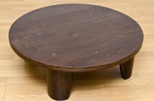 【送料無料!ポイント2%】折りたたみ式丸テーブル!木目がキレイ!浮造りセンターテーブル 100