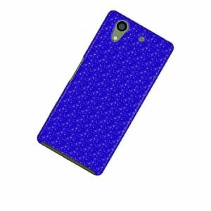 ドレスマ パターン ブルー カバー ケース スマホ ハード arrows NX F-01K 専用 ドレスマ F01K-08BL017