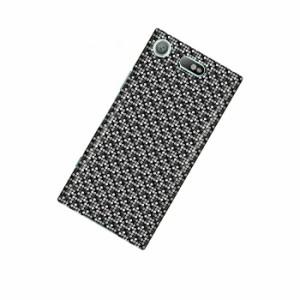 ドレスマ パターン グレー カバー ケース スマホ ハード Xperia XZ1 Compact SO-02K 専用 ドレスマ SO02K-12GY017