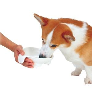 ペティオ 老犬介護用 持ち手付食器 中  【犬用品】【犬 食器】【老犬介護・中型犬用 食器】