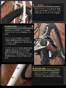 【送料無料】【KYUZO】キュウゾウ 26インチ マウンテンバイク KZ-102R 18段変速 自転車