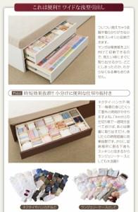 日本製_棚・コンセント・仕切り板付き大容量チェストベッド 【Inniti】 イニティ 【フレームのみ】 ダブルサイズ ダブルベッド ベット