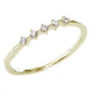ゴールド K10 ダイヤモンド リング K10yg ダイヤ