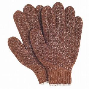 滑り止め軍手(ビニボツ) おたふく手袋 ビニライン [12双入] 210 化学繊維 厚手