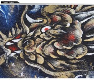 禅[ZEN] 登竜門 大きいサイズ40・42・44 京雅手描き和柄ジーンズ/デニム/日本製/KD001-101big/送料無料