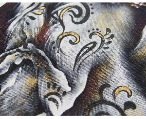 禅[ZEN] 九尾の狐 大きいサイズ40・42・44 京雅手描き和柄ジーンズ/デニム/日本製/KD001-106big/送料無料