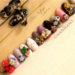 Bonnail ×RieNofuji シャルマンシュクル ブランプティ 12P 【ネイルアートアクセサリー・ネイルパーツ関連ネイル用品】