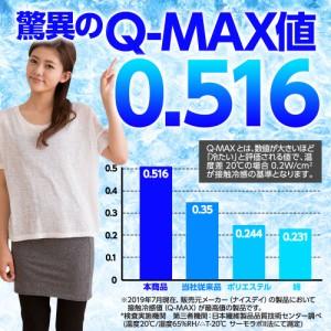敷きパッド 『強力接触冷感 Q-MAX0.5 〜史上最強のいちばん冷たいクール敷きパッド〜』ダブルサイズ