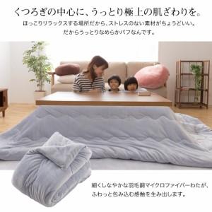 【送料無料】mofua うっとりなめらかパフ こたつ布団(正方形)