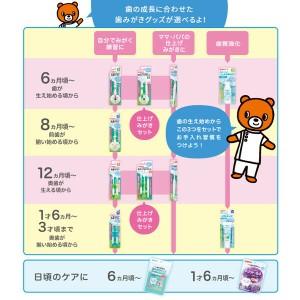 ピジョン)親子で乳歯ケア 乳歯ブラシ(レッスン段階1)[西松屋]