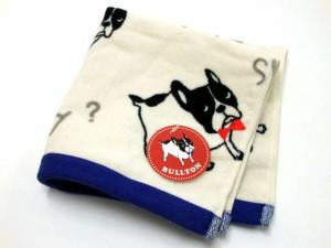 ハンドタオル ブルトンパイル フレンチブルドッグ 手拭 パイル地 タオルハンカチ 綿100%  犬グッズ【プチギフト】