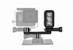 【送料無料】 防水ダイビングライト高電源LEDライト水中ライトfor GoPro hero5/4/3 防水高輝度300LM LEDライト 防水30m
