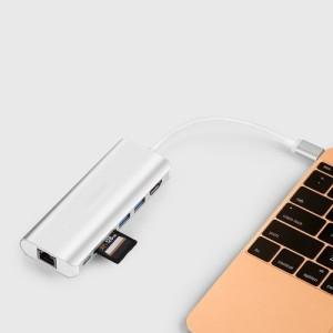 【送料無料】USB Type-C ハブ HDMI 4K対応 Type-C カードリーダー 6in1 USBハブ Type-C Hub 高速USB 3.0ポート