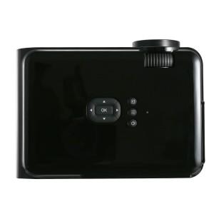 ミニ LED プロジェクター 1200ルーメン 800*480解像度 サポート1080P 画面調整可能 HDMI/VGA/AV/USB/SD スマホ/タブレットなど対応