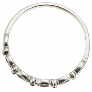 リング 指輪 シルバー925製 スタンダード ピンキー 透かし柄 シンプル しずく型を連ねたデザイン 透かし柄