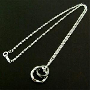 送料無料 ブラックコーティングダイヤモンド入りリングペンダントネックレス
