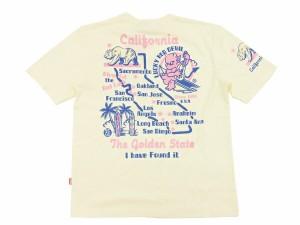 テッドマン Tシャツ TDSS-418 カリフォルニア U.S.A. tedman エフ商会 メンズ 半袖tee オフ白 新品
