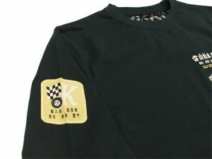 カミナリ 長袖Tシャツ KMLT-71 グロリア 雷自動車工業株式會社 エフ商会 メンズ ロンtee ブラック 新品