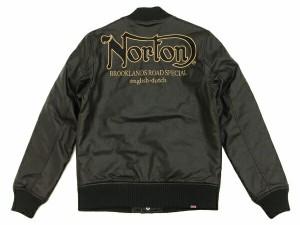 ノートンモーターサイクル PU スタジャン 43N1602 Norton Motorcycle メンズ フェイクレザージャケット ブラック 新品