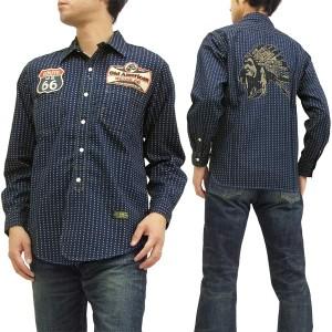トイズマッコイ ワークシャツ TMS1523 TOYS McCOY 星型ウォバッシュ メンズ 長袖シャツ 新品