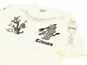 テッドマン Tシャツ TDSS-446 TEDMAN 龍 ドラゴン エフ商会 メンズ 半袖tee オフ白 新品