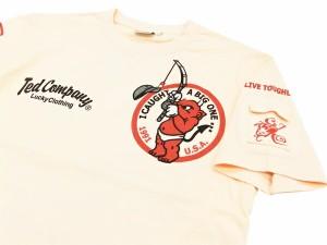 テッドマン Tシャツ TDSS-445 TEDMAN バス釣り柄 エフ商会 メンズ 半袖tee ピンク 新品